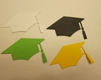 10 Graduation Cap Die Cut in any color