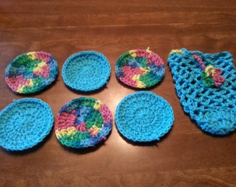 Soap sack with 6 facial scrubbies