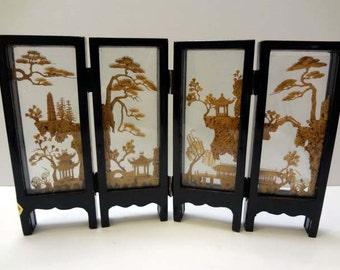 Miniature San Yuu Japanese screen