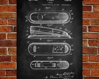 Stapler Art Print, Stapler Patent, Stapler Vintage, Stapler Blueprint, Stapler Print, Stapler Prints, Stapler Wall Art, Stapler Decor