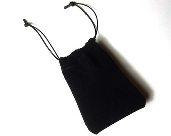 Black velvet pouch 55x70 mm pack of 10