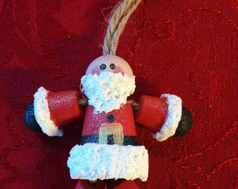 Bauld Santa Ornament