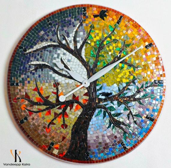 Mosaic Clock + Mosaic Art