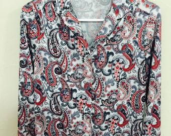 Vintage/retro blouse, paisley blouse