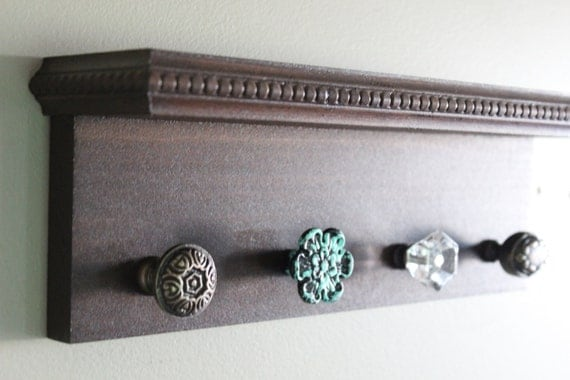 Decorative Wall Shelf Key Holder Brown With By Winsomewalls