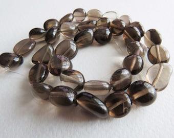 Smokey Quartz Nugget beads. 36cm Strand.