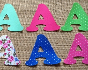 Mix & Match Fabric Iron on Letters- appliqué