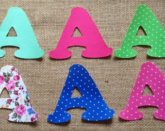 mix match fabric iron on letters appliqu