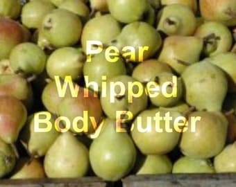 Pear Whipped Body Butter, All Natural, 4oz