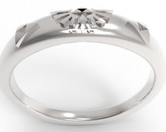 Zelda Triforce Ring Sterling Silver