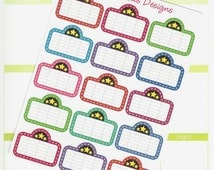 15 Movie Marquee Stickers for Erin Condren Life Planner, Plum Paper, Filofax or Kiki K Planners, Calendars or Scrapbooks