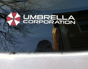 Resident Evil Umbrella Corporation Vinyl Decal stickers