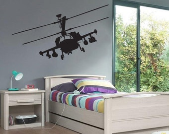 New Hokum Kamov Helicopter Wall Decal Black Wall Stickers Large 130cm X 58cm