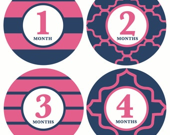 GIFT OFFER, Monthly Baby Sticker, Baby Month Sticker, Girl Sticker,  Milestone Sticker, Month by Month Baby Sticker, Baby Gift, Baby Gir