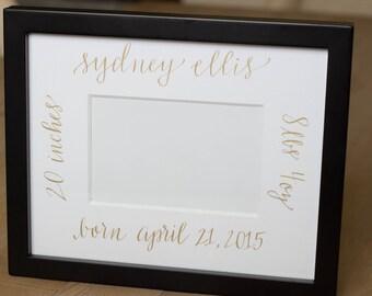 Custom Calligraphy Frame Mat