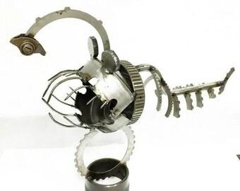 Industrial Metal Sculpture fish
