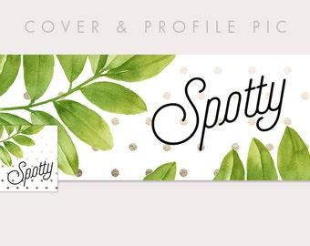 Foil Timeline Cover + Profile Picture 'Spotty' | Cover, Profile Picture, Branding, Web Banner, Blog Header