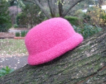 Pretty In Pink Felted Baby Hat
