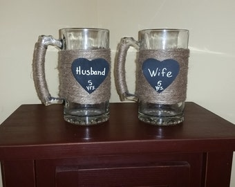 His and Her's Beer Mugs
