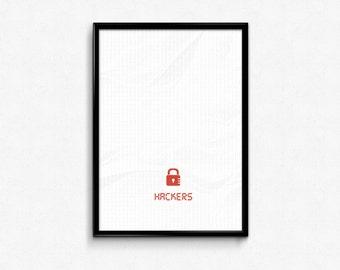 Hackers Custom Minimal Movie Poster