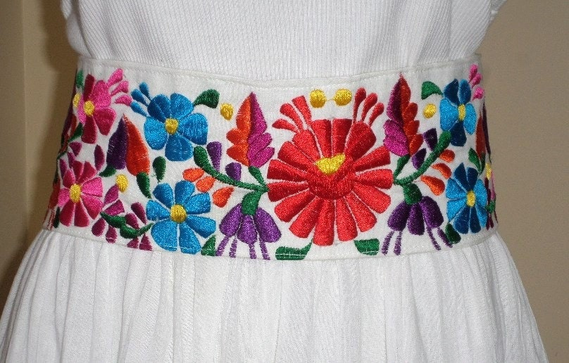 Beautiful mexican belt embroidered directly from by
