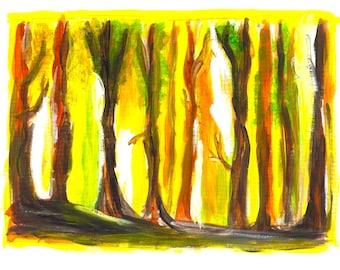 abstract landscape wall art decor print poster watercolor panting, abstract watercolor art print  (No. 6)