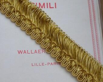 French Gold Fringe 3.8 yards.   Vintage Trim 3.5 Metres in Soft Gold