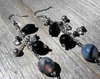 Handmade Dangle Earrings Made w/ Vintage Materials