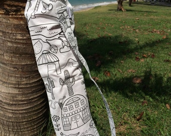 Drawstring, Colour-Your-Own Yoga Bag