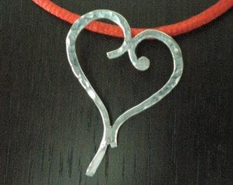 Handmade Silver Heartshaped Pendant