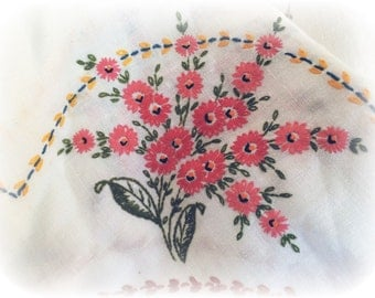 Hand embroidered cotton double bed coverlet