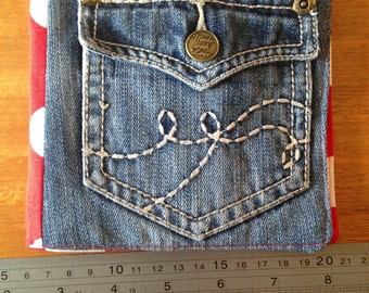 Sewing kit/case, recycled denim
