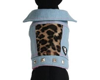 PAWnk Basic Betty Denim Dog Jacket