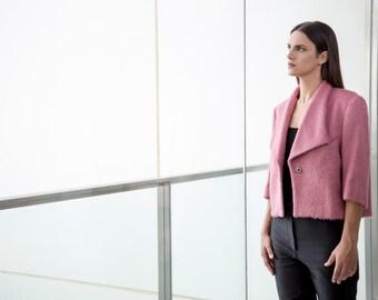 Pink Wool Jacket