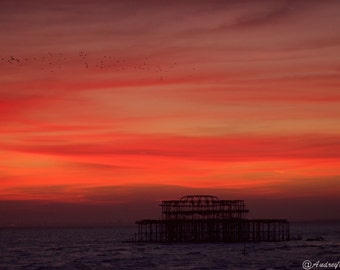 Sunset over west pier