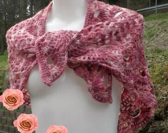 Scarf, shawl, shawl, rose