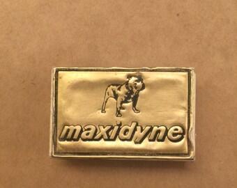 Vintage Maxidyne Match Box - Made in Sweden - Bulldog