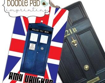 Tardis Luggage Tag,  Personalized Dr. Who Bag Tag