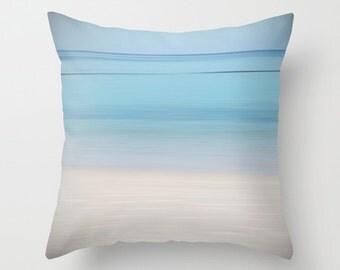 Blue pillow, blue cushion, ocean pillow, beach pillow, blue decor, throw pillow, pillow cover, cushion cover, photography pillow, minimalist