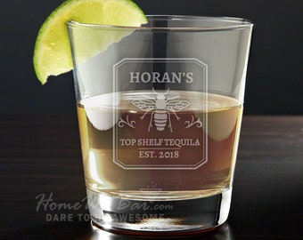 Top Shelf Personalized Tequila Glass - Tequila Gifts
