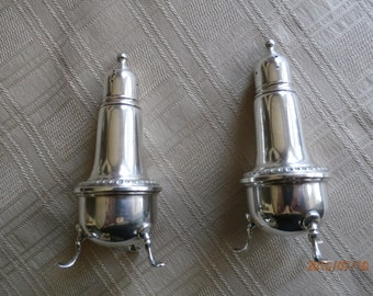 Empire Sterling Silver Footed Salt & Pepper Shakers