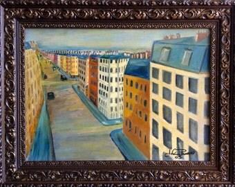 "Parisian, 18"" x 22"", Original Fine Art OIl Painting"