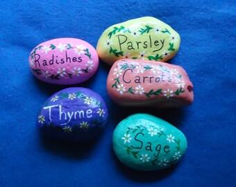 Garden Markers - Handpainted Rock