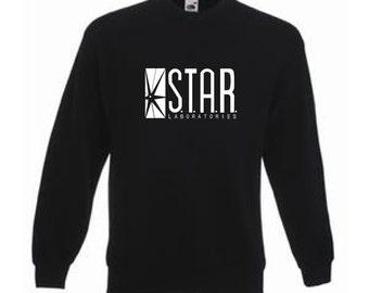 Star Laboratories Sweatshirt Jumper The Flash TV Series Barry Allen Action Comic Fast Runner Star Labs