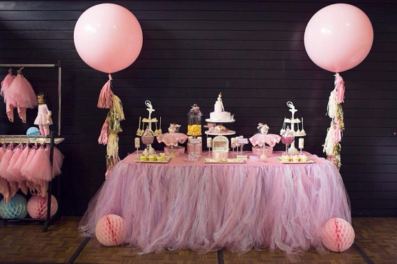 18 foot tutu table skirt party baby shower wedding decorations
