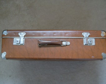 1960's Classic leather suitcase.
