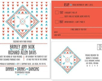 Aztec Wedding Invitation