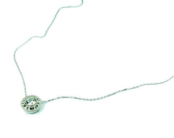 925 Silver Handmade Trapeze Necklace Free Shipping