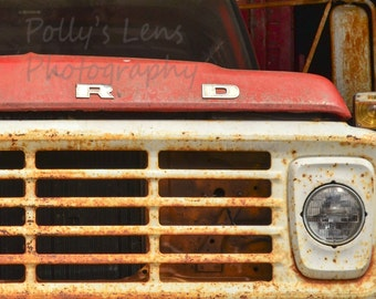 Ford Truck Photo, Rusty Truck, Truck Wall Decor, Boy's Room Wall Art, Rustic photo, Country home decor