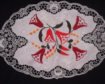 Hand made embroidered cotton Madeira